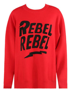 'Rebellious' Jumper in Red/Black