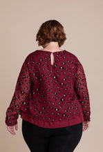 Load image into Gallery viewer, 'Camille' Plus-Size Top in Red Wine