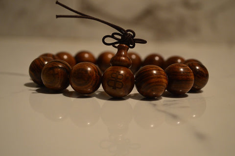 A beautiful handcrafted sandalwood bracelet