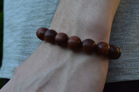 Red sandalwood Buddha forgiveness bracelet