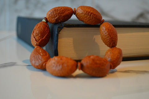 brown Mediation bracelet made of seeds