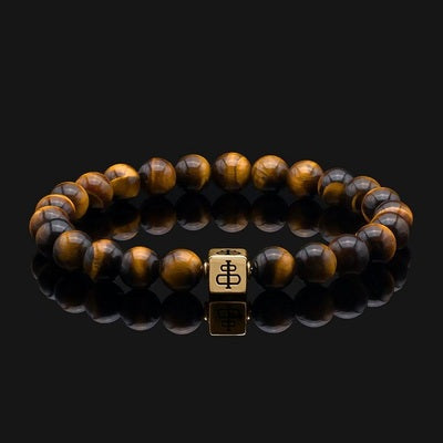 Real Tiger Eye and Lava Stone Bracelet Meaning
