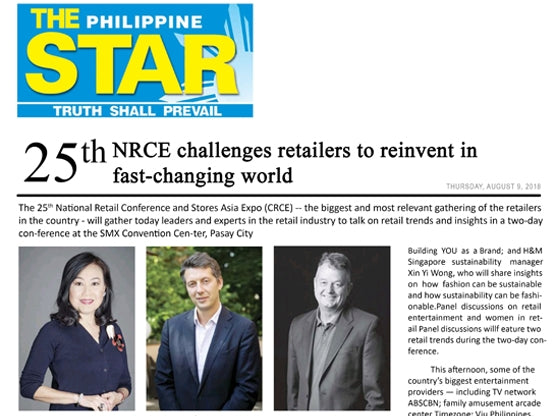 25TH NATIONAL RETAIL CONFERENCE AND STORES ASIA EXPO 2018
