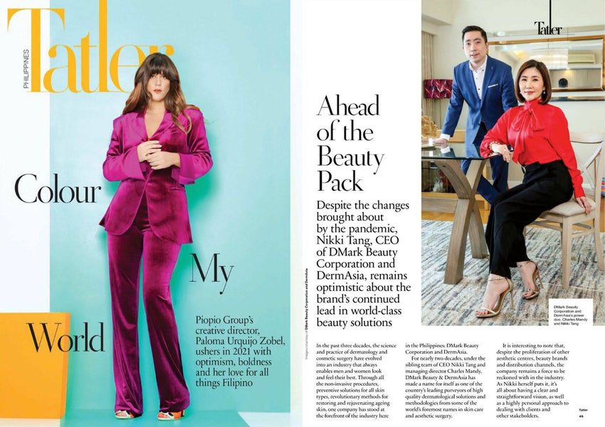 Ahead of the Beauty Pack as featured in Tatler Philippines