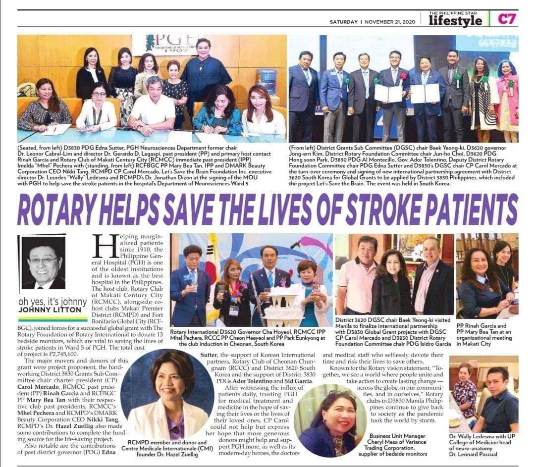 Rotary Helps Save the Lives of Stroke Patients