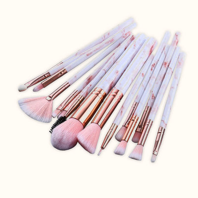 Play Lashes™ - Marble Makeup Brush Set (10 Brushes)