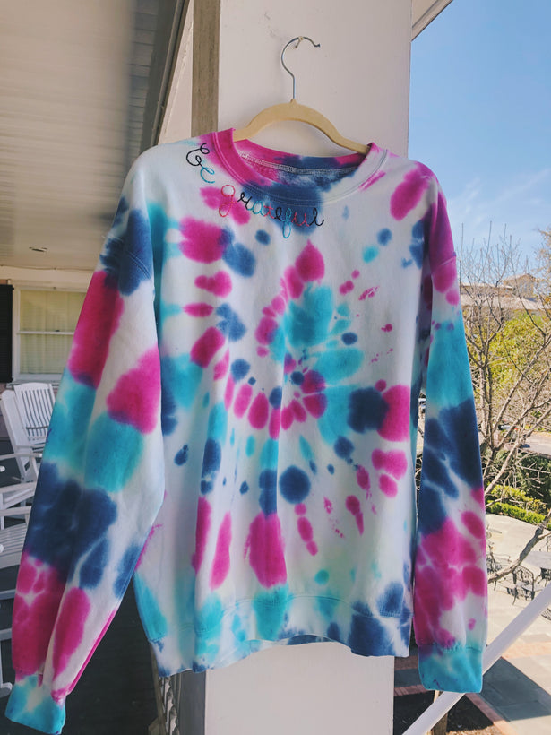 Embroidered Tiedye