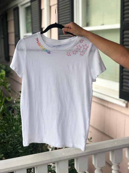 Rainbow Name and Star Tee