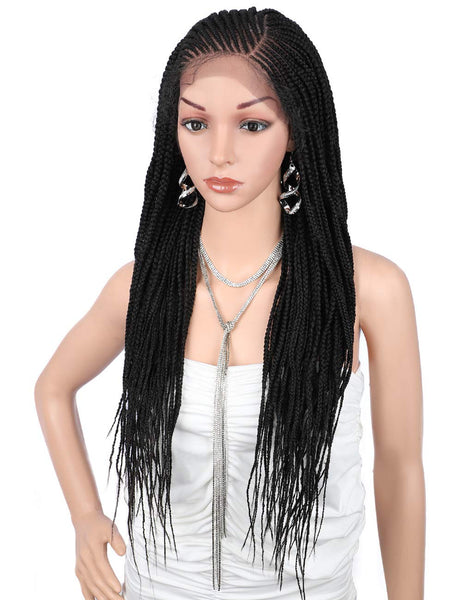 "Kalyss 31"" Twist Box Braided Cornrow Wigs 13X6"" Synthetic Lace Frontal Braids"