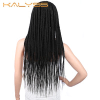 "Kalyss 29"" Twist Braids Cornrow Wigs 13X6"" Synthetic Lace Front Braided Wigs"