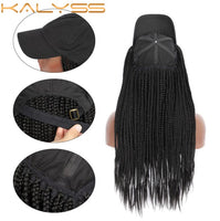 Kalyss CAPDO 20 '' Fashion Box Braided with Black Hat for Black Women Synthetic Fiber Wig Hat Black Lazy Hair for Women