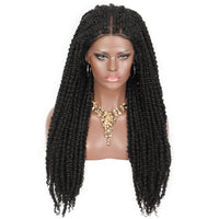 "Kalyss 13X5"" Swiss Lace Front Knotless Passion Twists Braided Wigs"