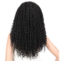 Kalyss 26 Inches Black Synthetic Hair Locs Braided Box Wigs For Black Women With Baby Hairs Twist Locs Cornrow Braids wigs