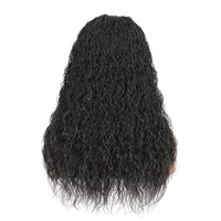 Kalyss 22 Inches Synthetic Long Curly Wigs For Black Women Braided Wig Middle Parting Heat Realistic Fiber Hair Lace Front Wigs