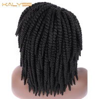 Kalyss Short Braided Wigs for Black Women Cornrow Braids Lace Wigs Synthetic Lace Front Wig Baby Hair Faux Loks Wig Side Part