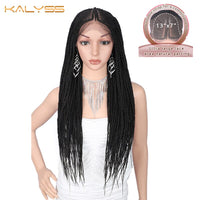 Kalyss 29 inch 13x7 Braided Wigs Synthetic Lace Front Fulani Cornrow Box Braid Wigs for Black Women Frontal twist Braided Wig