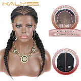 "Kalyss 24 ""  13x6 hand-woven lace front wig for black women synthetic long hair forehead wig"