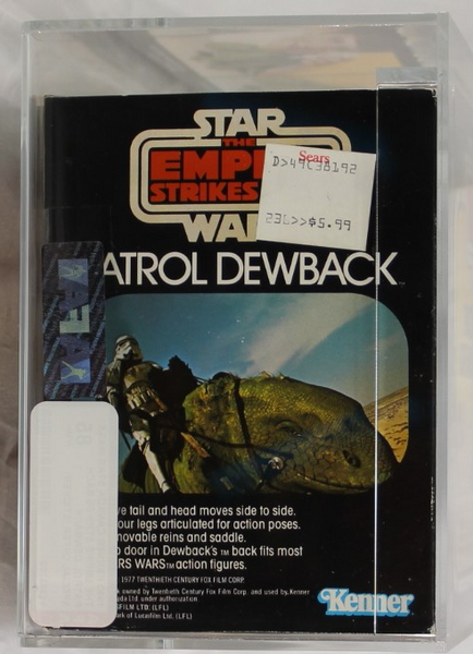 1980 - KENNER - CANADA - STAR WARS - THE EMPIRE STRIKES BACK - PATROL DEWBACK - SPECIAL OFFER (STICKER) - AFA 85 NM+ - ONLY 1 KNOWN OF WITH THIS STICKER