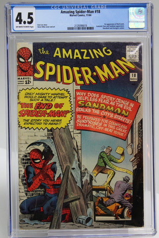 Amazing Spider-Man #18 CGC 4.5, 1st Appearance Ned Leeds