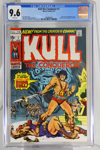 Kull the Conqueror #1 - CGC 9.6 - Origin and 2nd app of Kull.