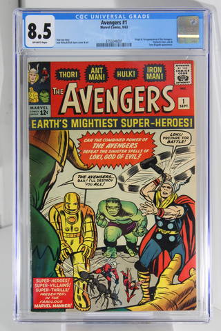 Avengers #1 - CGC 8.5 - Origin & 1st app of the Avengers