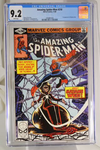 Amazing Spider-Man #210 - CGC 9.2 - 1st appearance of Madame Web