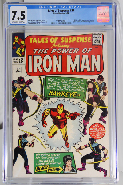 Tales of Suspense #57 - CGC 7.5 - Origin & 1st app of Hawkeye (Clint Barton)
