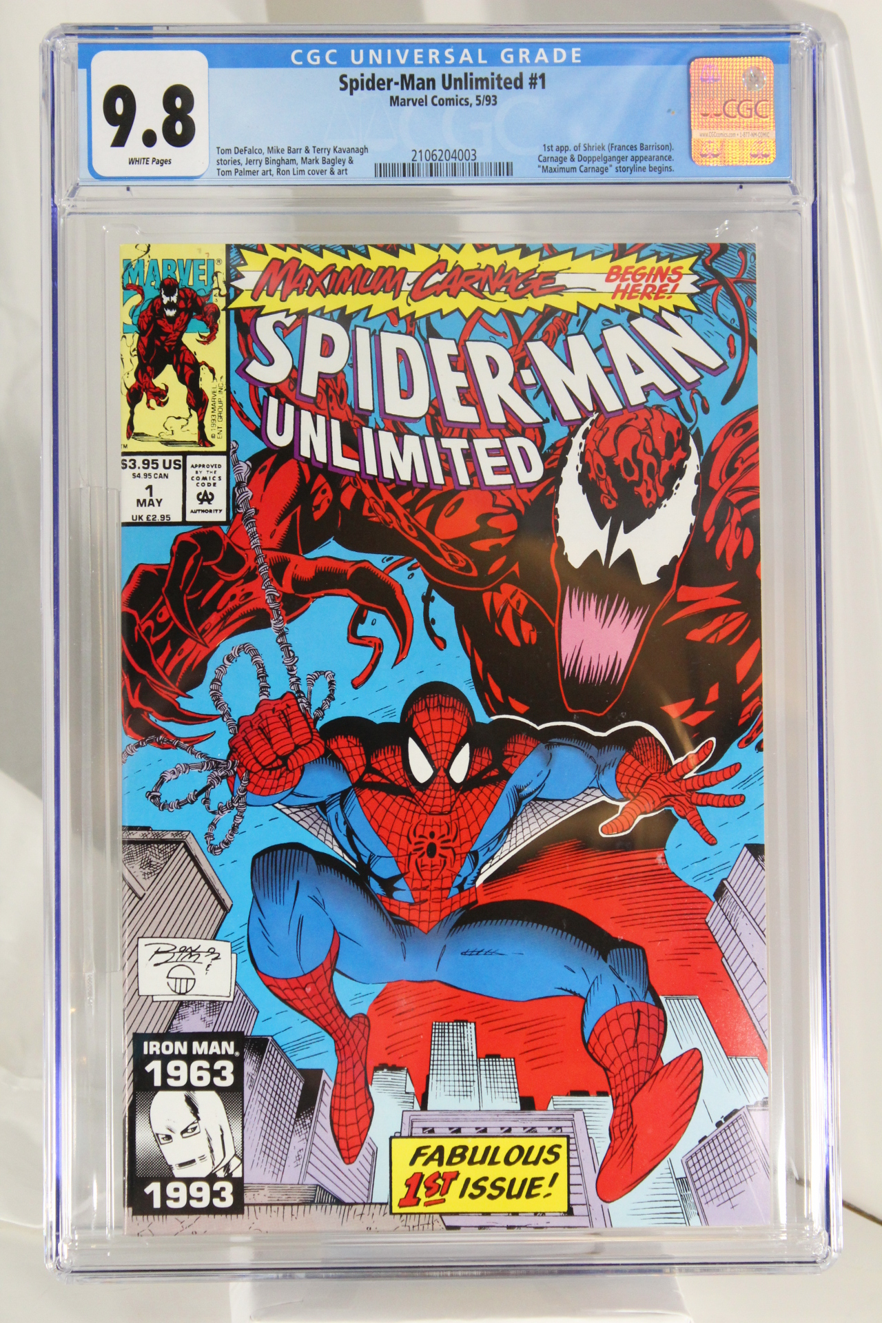Spider-Man Unlimited #1 - CGC 9.8 - 1st app. of Shriek (Frances Barrison).