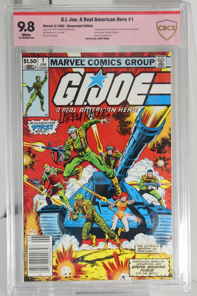 G.I. Joe, A Real American Hero #1 (Signed), CGC 9.8 White Pages