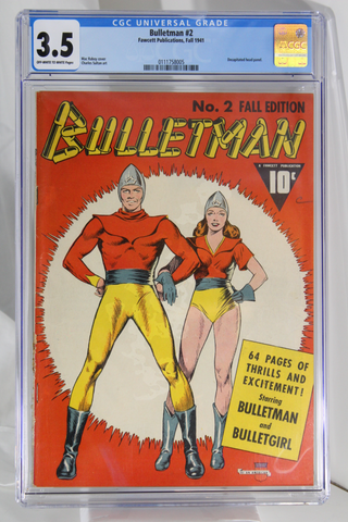 Bulletman #2 - CGC 3.5 - Decapitated head panel