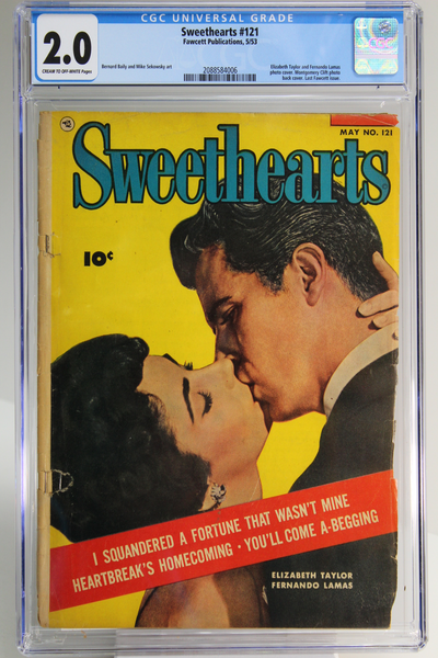 Sweethearts #121 CGC 2.0, Elizabeth Taylor Photo Cover