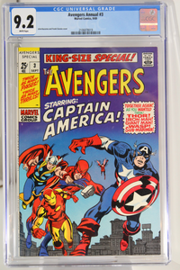 Avengers Annual #3 CGC 9.2, White Pages, Classic Cover