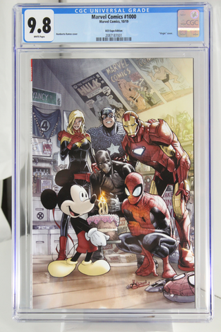 "Marvel Comics #1000 - CGC 9.8 - D23 Expo Edition - ""Virgin"" cover"