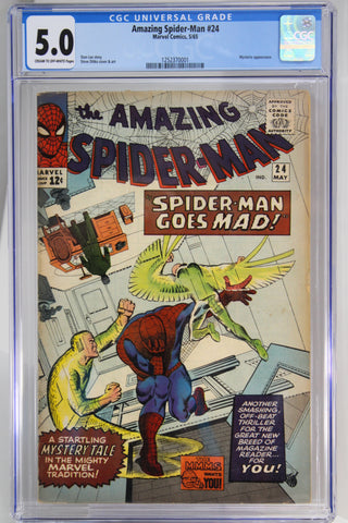 Amazing Spider-Man #24 CGC 5.0, Mysterio Appearance