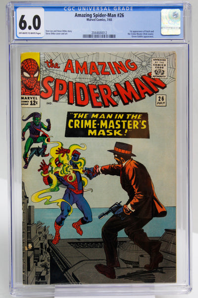 Amazing Spider-Man #26 CGC 6.0, 1st Appearance Patch and the Crime-Master