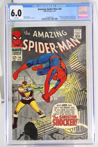 Amazing Spider-Man #46 CGC 6.0 White Pages, 1st Appearance Shocker, Key