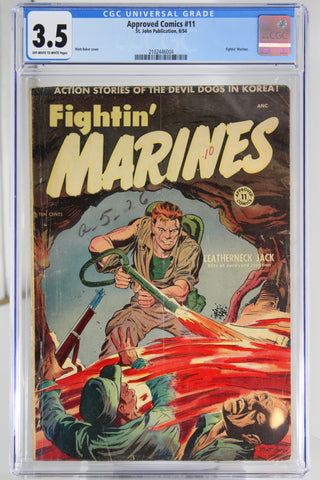Approved Comics #11 CGC 3.5, Golden Age, War Comic