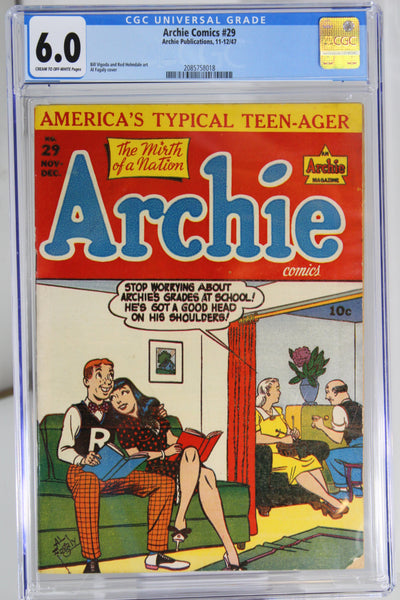 Archie Comics #29 CGC 6.0, Great Cover