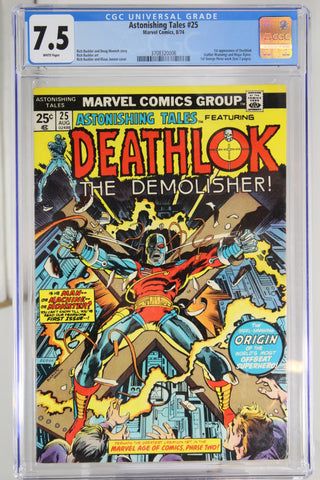 Astonishing Tales #25 CGC 7.5, White Pages, 1st Appearance Deathlok