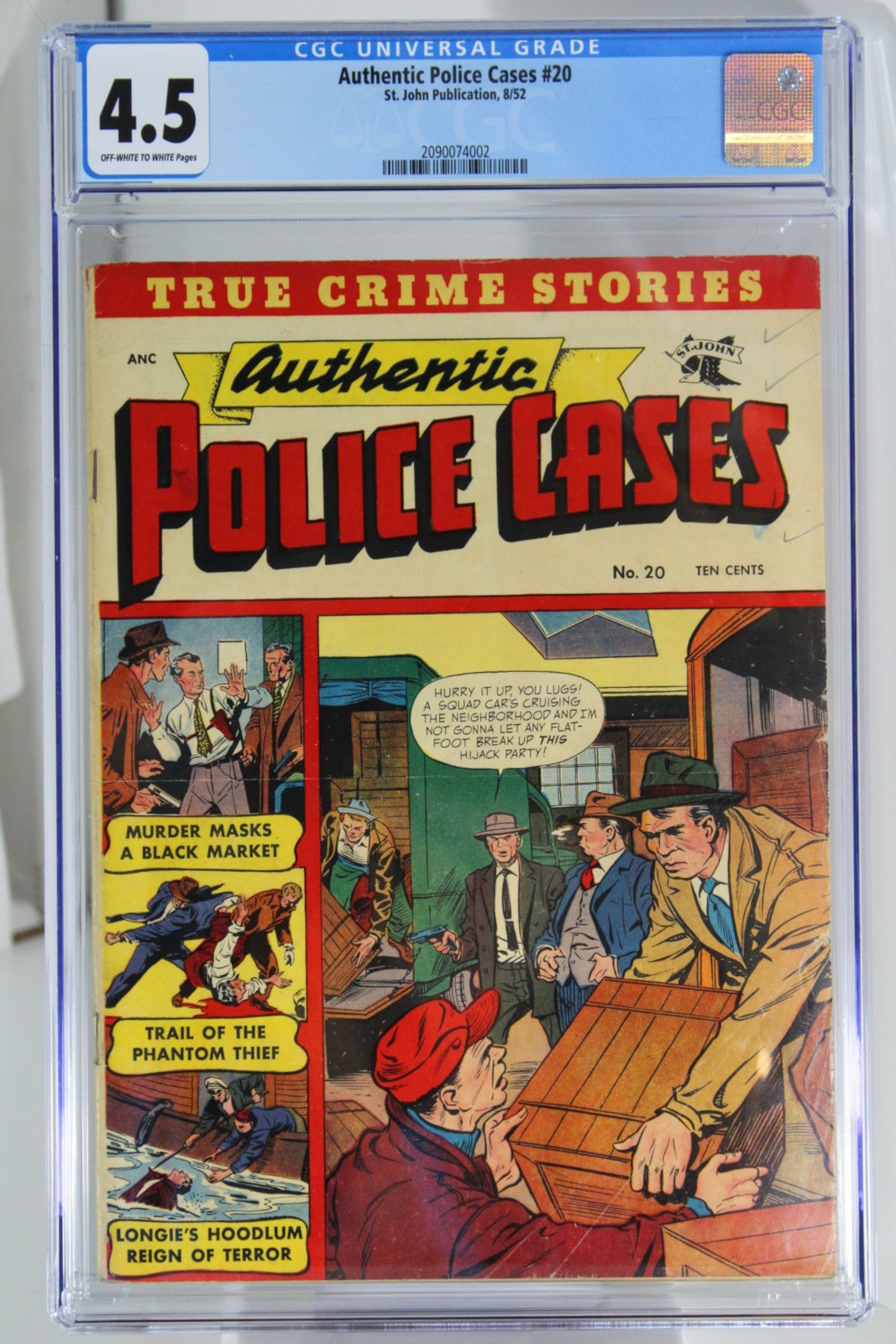 Authentic Police Cases #20 CGC 4.5, Crime Comic