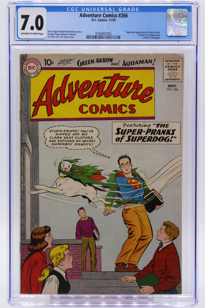 Adventure Comics #266 CGC 7.0 1st Appearance the 1st Aquagirl