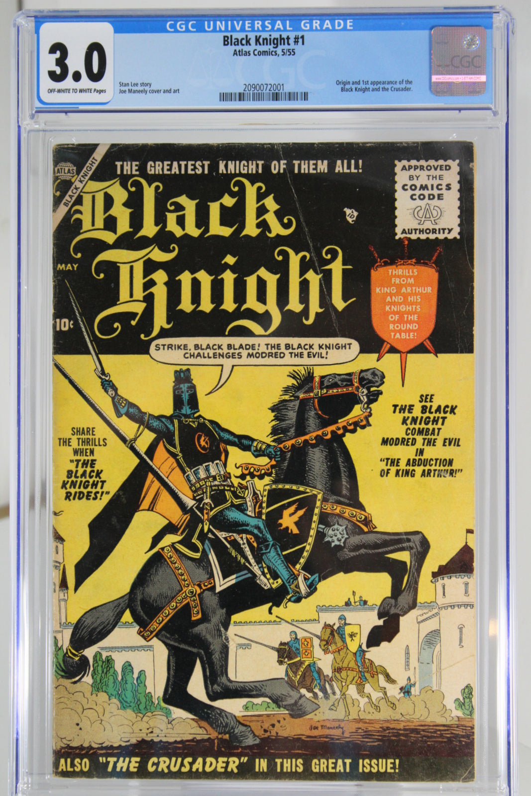 Black Knight #1 CGC 3.0, 1st Appearance Black Knight