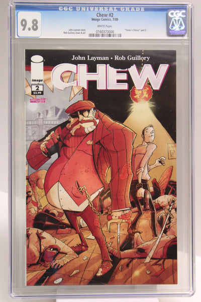 Chew #2 CGC 9.8, White Pages