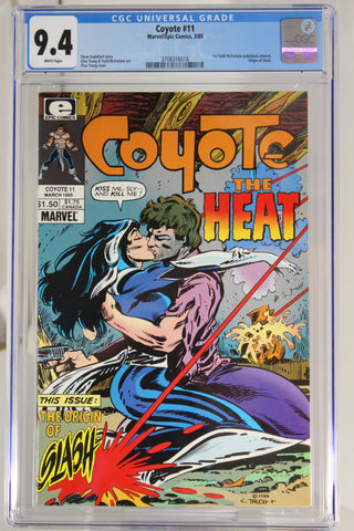 Coyote #11 CGC 9.4, White Pages