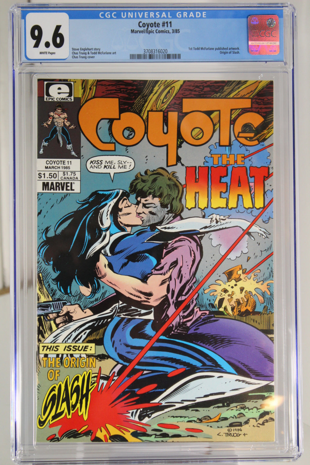 Coyote #11 CGC 9.6, White Pages