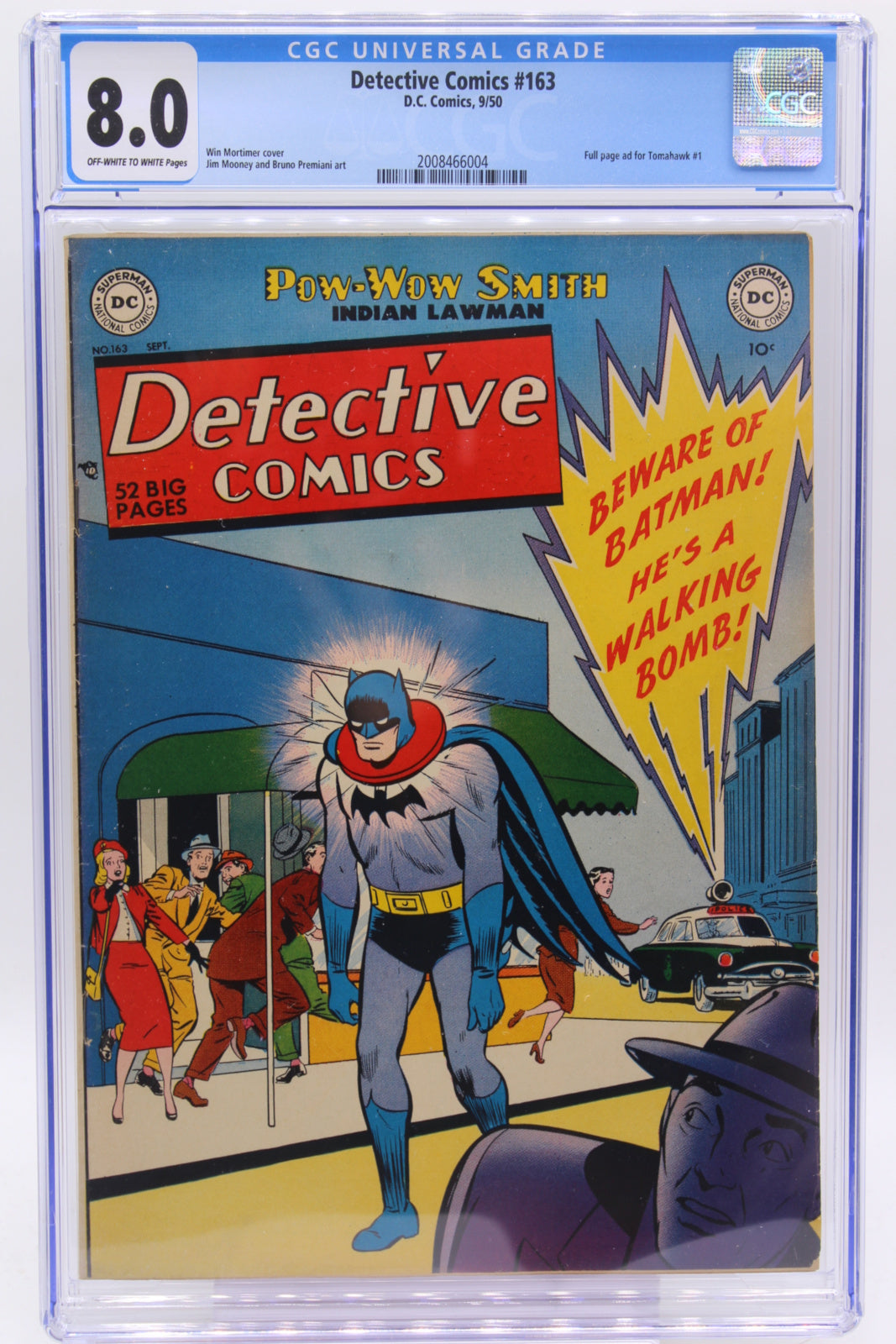 Detective Comics #163 CGC 8.0, Very Tough in this Great, Great Cover