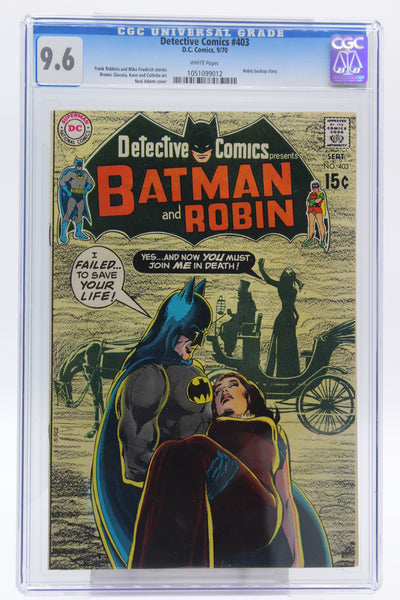 Detective Comics #403 CGC 9.6, White Pages