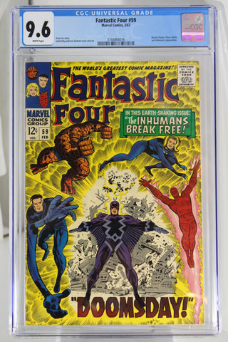Fantastic Four #59 CGC 9.6, White Pages, Silver Surfer Appearance