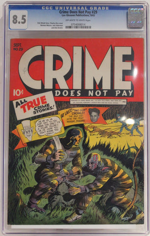 Crime Does Not Pay #29 - CGC 8.5 - 1943 - Golden Age