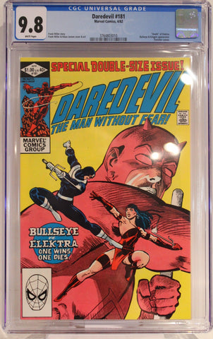 "Daredevil #181 - CGC 9.8 - ""Death"" of Elektra - Punisher cameo"